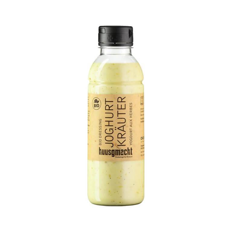 Flasche huusgmacht Joghurt Kräuter